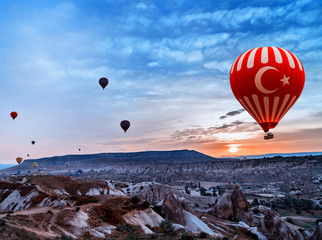 Turkey air balloon flying