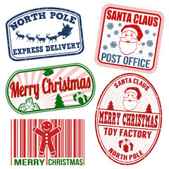 Christmas stamps set