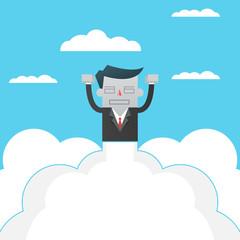 Big idea Business innovation rocket