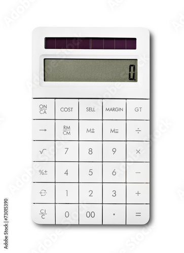 Calculator isolated on white - 73015390