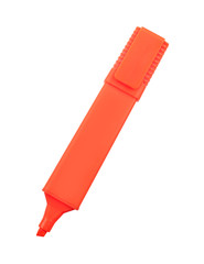 Orange marker isolated on white