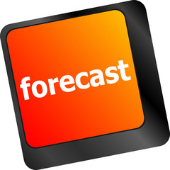 forecast key or keyboard showing forecast or investment concept