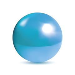 Photorealistic shiny blue orb