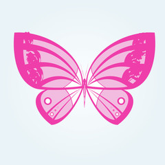 Butterfly glamorous doodle