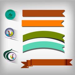 Set of elements for design.