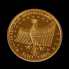 Einhundert Euro Goldmünze