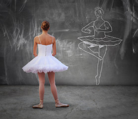 Girl practicing classic dance