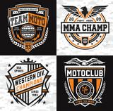 Athletic emblem graphic shield set