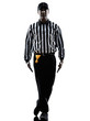 american football referee gestures tripping silhouette