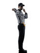 american football referee whistling silhouette