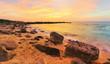Sutera Harbour beach during sunset