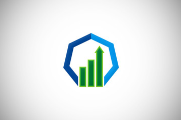 business finance graph arrow vector logo