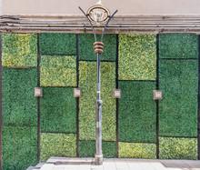 "Постер, картина, фотообои ""grass wall wall doors entrance design Soho Central Hong Kong"""