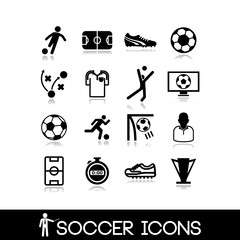 Soccer icons set6