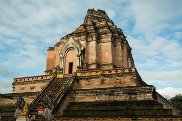 Wat Chedi Luang in chiangmai of thailand