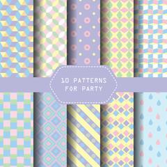 pastel party pattern