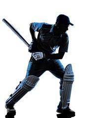 Cricket player  batsman silhouette