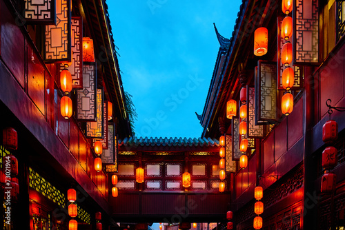 Keuken foto achterwand China Jinli Pedestrian Street Chengdu Sichuan China