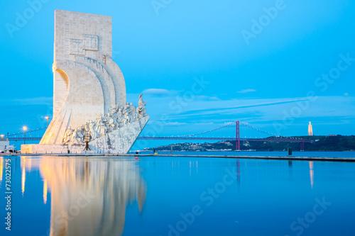 obraz PCV pomnik odkryć z Lizbony
