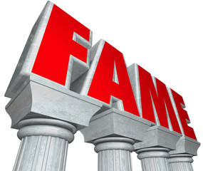 Fame Marble Columns Popularity Famous Celebrity