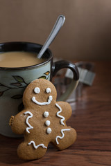 Coffee and a Gingerbread Man
