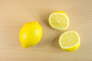sliced lemons on a cutting board