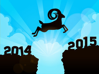 Jump to new year 2015 - Year of the goat
