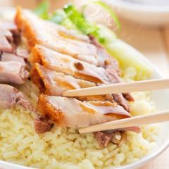 Crunchy Chinese roasted pork