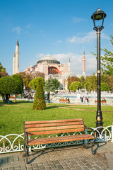 Hagia Sophia mosque in Istanbul Turkey