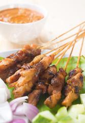 Asian gourmet chicken satay