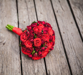 wedding. Red roses