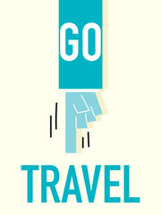 Word GO TRAVEL