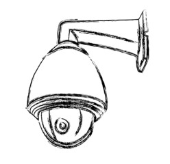 Black and White Surveillance Camera (CCTV) Warning Sign