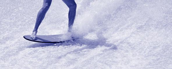 Man ride a surfing board