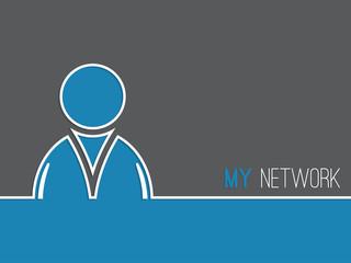 Network advertising background