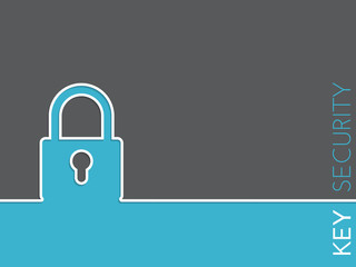 Simple security background with padlock