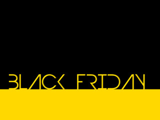 Black friday background with cool text