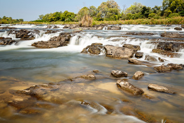 Famous Popa falls in Caprivi, North Namibia