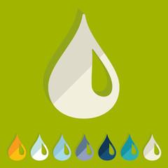 Flat design: water