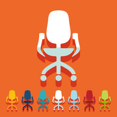 Flat design: office chair