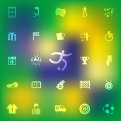 Set of soccer icons design, Vector illustration for  web design,