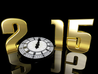 2015 New Year Clock