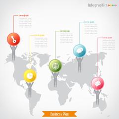 Business infographics, Vector illustration for  banner, diagram,