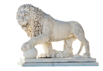 medici lion isolated on white background