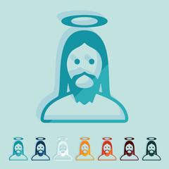 Flat design: jesus