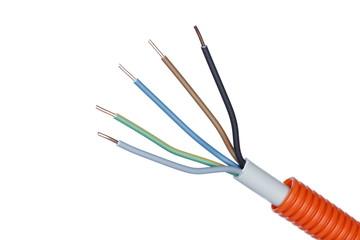 Schutzrohr mit Elektrokabel