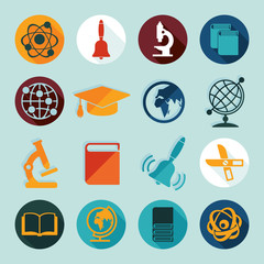 Set of education flat icons