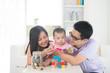 asian family money saving concept lifestyle photo