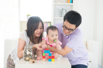 asian family money saving concept lifestyle photo
