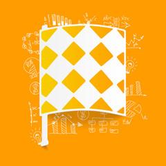 Drawing business formulas: linesman flag